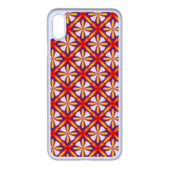 Hexagon Polygon Colorful Prismatic Iphone Xs Max Seamless Case (white)