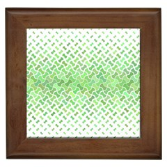 Green Pattern Curved Puzzle Framed Tiles