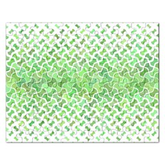 Green Pattern Curved Puzzle Rectangular Jigsaw Puzzl by HermanTelo