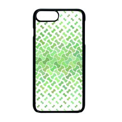 Green Pattern Curved Puzzle Iphone 8 Plus Seamless Case (black)
