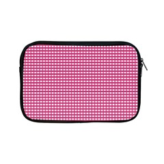 Gingham Plaid Fabric Pattern Pink Apple Ipad Mini Zipper Cases by HermanTelo