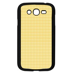 Gingham Plaid Fabric Pattern Yellow Samsung Galaxy Grand Duos I9082 Case (black) by HermanTelo