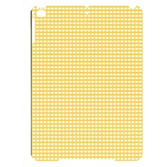 Gingham Plaid Fabric Pattern Yellow Apple Ipad Pro 9 7   Black Uv Print Case