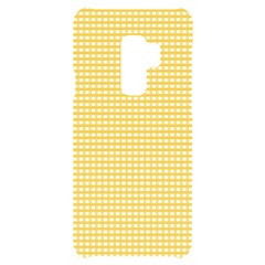 Gingham Plaid Fabric Pattern Yellow Samsung S9 Plus Black Uv Print Case by HermanTelo