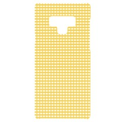 Gingham Plaid Fabric Pattern Yellow Samsung Note 9 Black Uv Print Case  by HermanTelo