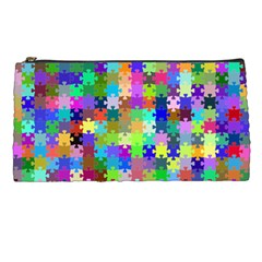Jigsaw Puzzle Background Chromatic Pencil Cases by HermanTelo
