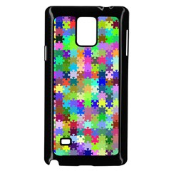 Jigsaw Puzzle Background Chromatic Samsung Galaxy Note 4 Case (black)