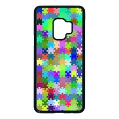 Jigsaw Puzzle Background Chromatic Samsung Galaxy S9 Seamless Case(black) by HermanTelo