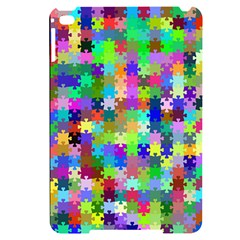 Jigsaw Puzzle Background Chromatic Apple Ipad Mini 4 Black Uv Print Case by HermanTelo