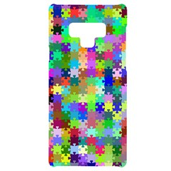 Jigsaw Puzzle Background Chromatic Samsung Note 9 Black Uv Print Case  by HermanTelo