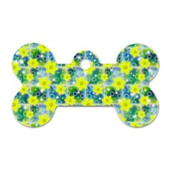 Narcissus Yellow Flowers Winter Dog Tag Bone (two Sides)