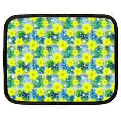 Narcissus Yellow Flowers Winter Netbook Case (large) by HermanTelo