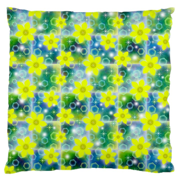 Narcissus Yellow Flowers Winter Standard Flano Cushion Case (Two Sides)