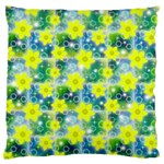 Narcissus Yellow Flowers Winter Standard Flano Cushion Case (Two Sides) Back