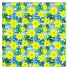 Narcissus Yellow Flowers Winter Large Satin Scarf (square)