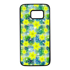 Narcissus Yellow Flowers Winter Samsung Galaxy S7 Black Seamless Case by HermanTelo