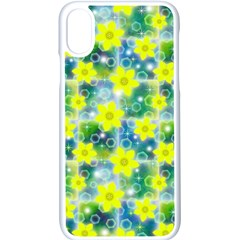 Narcissus Yellow Flowers Winter Iphone Xs Seamless Case (white)