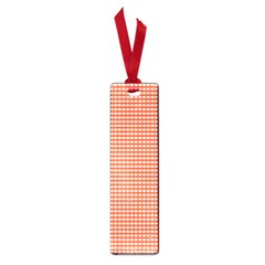 Gingham Plaid Fabric Pattern Red Small Book Marks