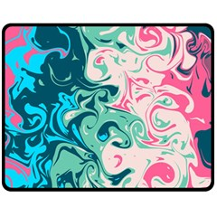 Crazy Swirls Fleece Blanket (medium)  by tarastyle