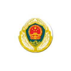 Badge Of Chinese People s Armed Police Force Golf Ball Marker (10 Pack) by abbeyz71