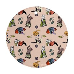 Funny Cats Ornament (round)