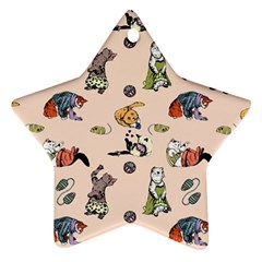Funny Cats Ornament (star) by Sobalvarro