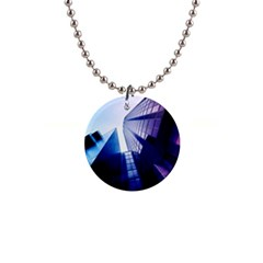 Abstract Architectural Design Architecture Building 1  Button Necklace by Pakrebo