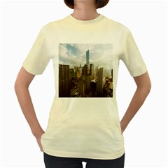Architectural Design Architecture Buildings City Women s Yellow T Shirt