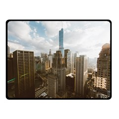 Architectural Design Architecture Buildings City Double Sided Fleece Blanket (small)