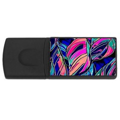 Tropical Leaves Resize 2000x2000 Same A3580b Rectangular Usb Flash Drive by Sobalvarro