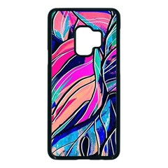 Tropical Leaves Resize 2000x2000 Same A3580b Samsung Galaxy S9 Seamless Case(black) by Sobalvarro