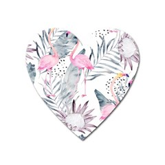 Tropical Flamingos Heart Magnet by Sobalvarro