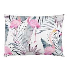 Tropical Flamingos Pillow Case (two Sides) by Sobalvarro