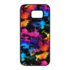 Tie Dye Rainbow Galaxy Samsung Galaxy S7 Edge Black Seamless Case by KirstenStar