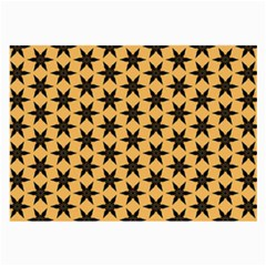 Gold Black Star Large Glasses Cloth (2 Sides) by AnjaniArt