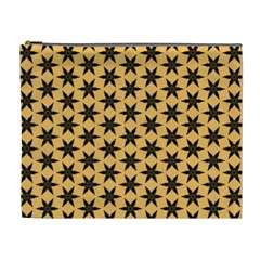 Gold Black Star Cosmetic Bag (xl)
