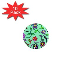 Flowers Floral Plants 1  Mini Magnet (10 Pack)  by Bajindul
