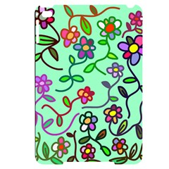 Flowers Floral Plants Apple Ipad Mini 4 Black Uv Print Case by Bajindul
