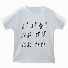 Piano Notes Music Kids White T Shirts by HermanTelo