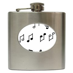 Piano Notes Music Hip Flask (6 Oz) by HermanTelo