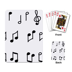 Piano Notes Music Playing Cards Single Design (rectangle)