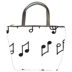 Piano Notes Music Bucket Bag by HermanTelo
