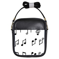 Piano Notes Music Girls Sling Bag by HermanTelo