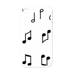 Piano Notes Music Iphone 4 Case (white)