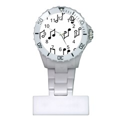 Piano Notes Music Plastic Nurses Watch by HermanTelo