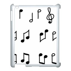 Piano Notes Music Apple Ipad 3/4 Case (white) by HermanTelo