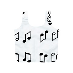 Piano Notes Music Full Print Recycle Bag (s)