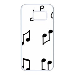 Piano Notes Music Samsung Galaxy S7 White Seamless Case