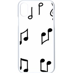 Piano Notes Music Iphone X Seamless Case (white)