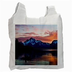 Tree Near Mountain Range Recycle Bag (two Side) by Pakrebo